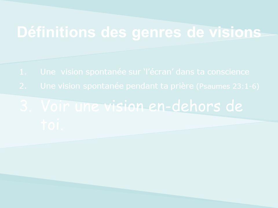 Définitions des genres de visions