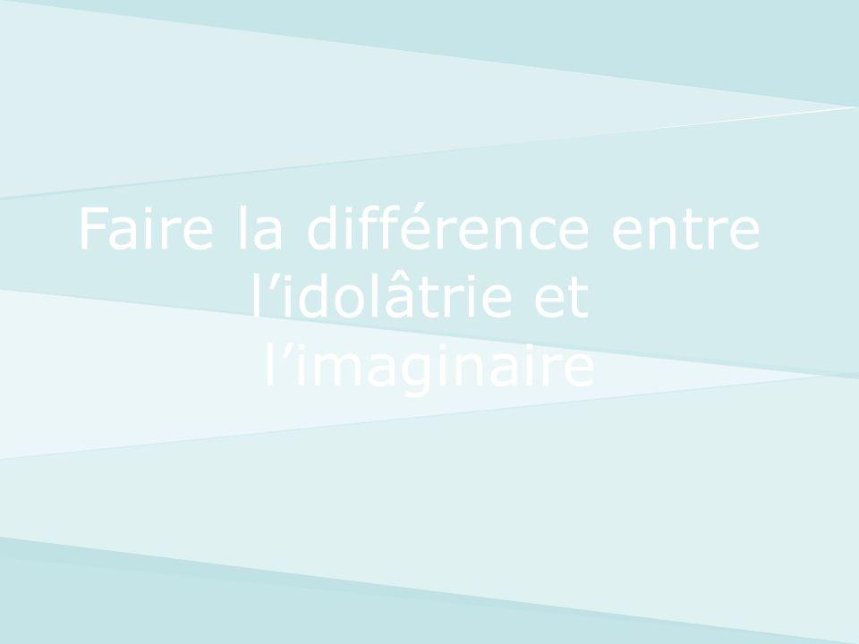 Faire la différence entre l'idolâtrie et l'imaginaire