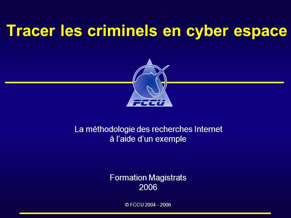 Tracer les criminels en cyber espace