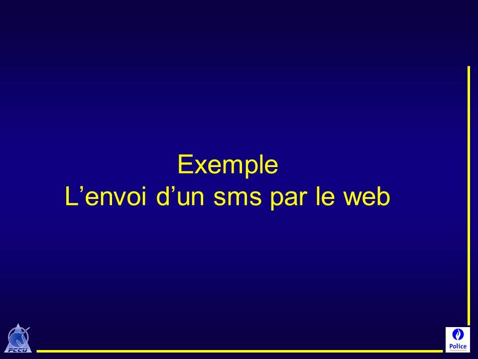 Exemple L'envoi d'un sms par le web