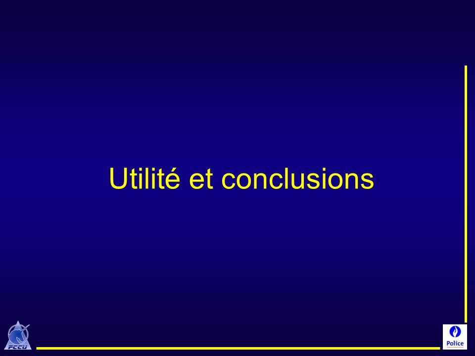 Utilité et conclusions