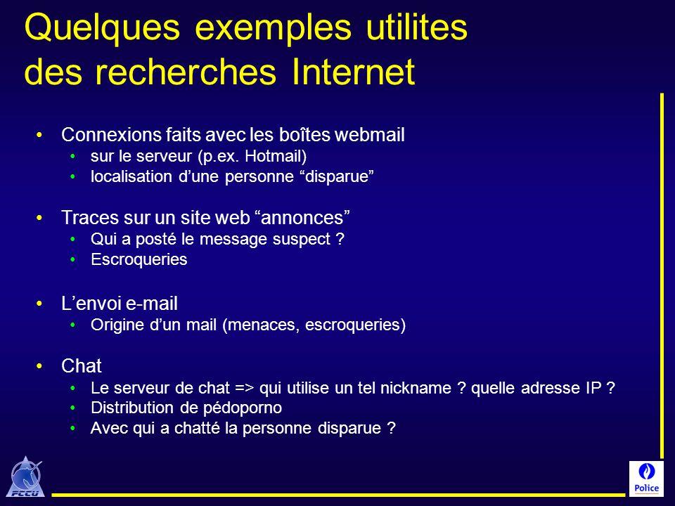 Quelques exemples utilites des recherches Internet