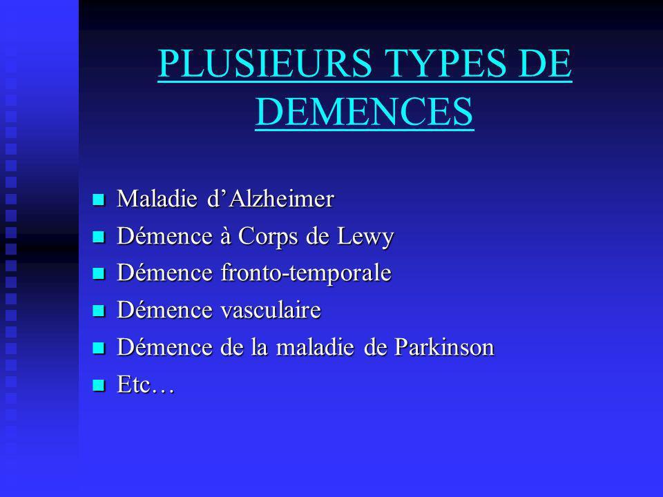 PLUSIEURS TYPES DE DEMENCES