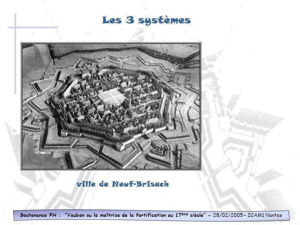 Les 3 systèmes ville de Neuf-Brisach