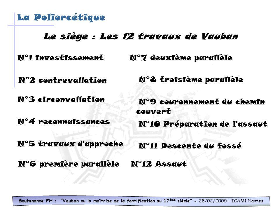 Le siège : Les 12 travaux de Vauban