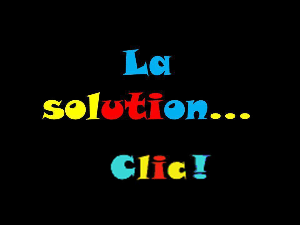 La solution…