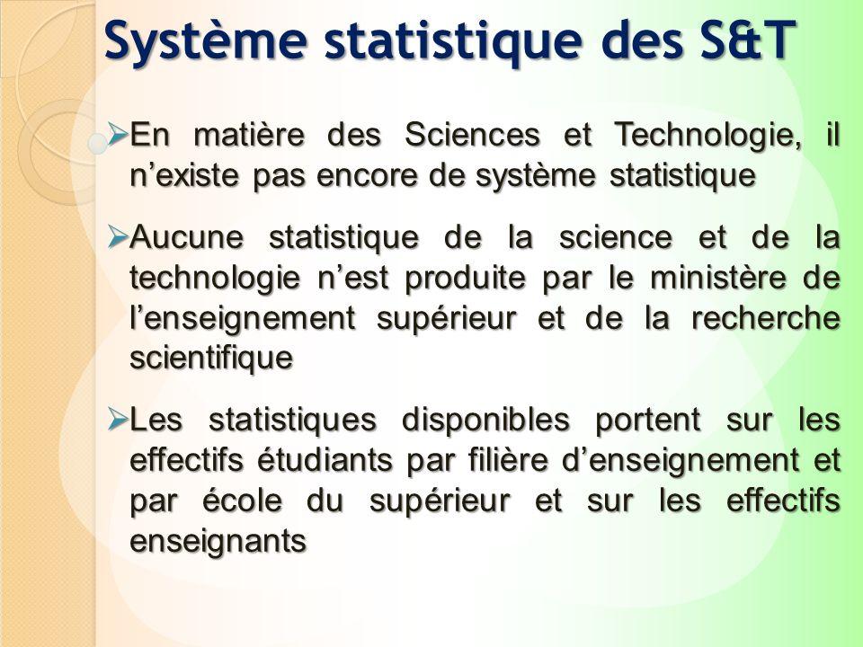 Système statistique des S&T