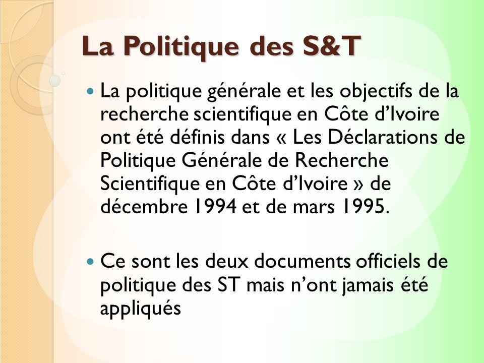 La Politique des S&T