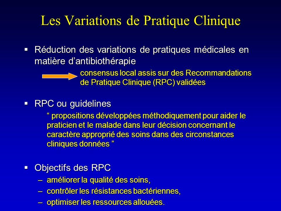 Les Variations de Pratique Clinique