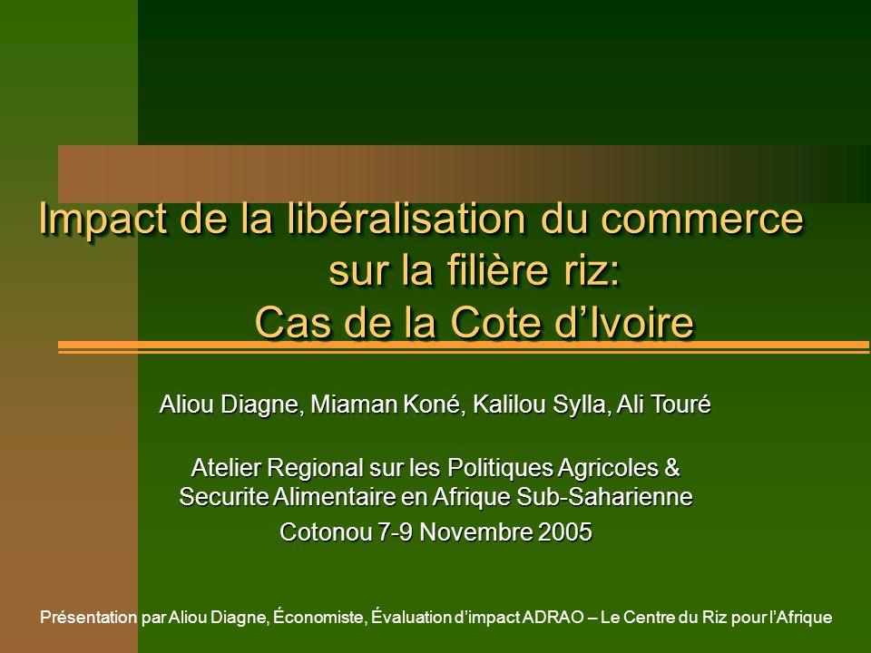 Impact de la libéralisation du commerce sur la filière riz: Cas de la Cote d'Ivoire
