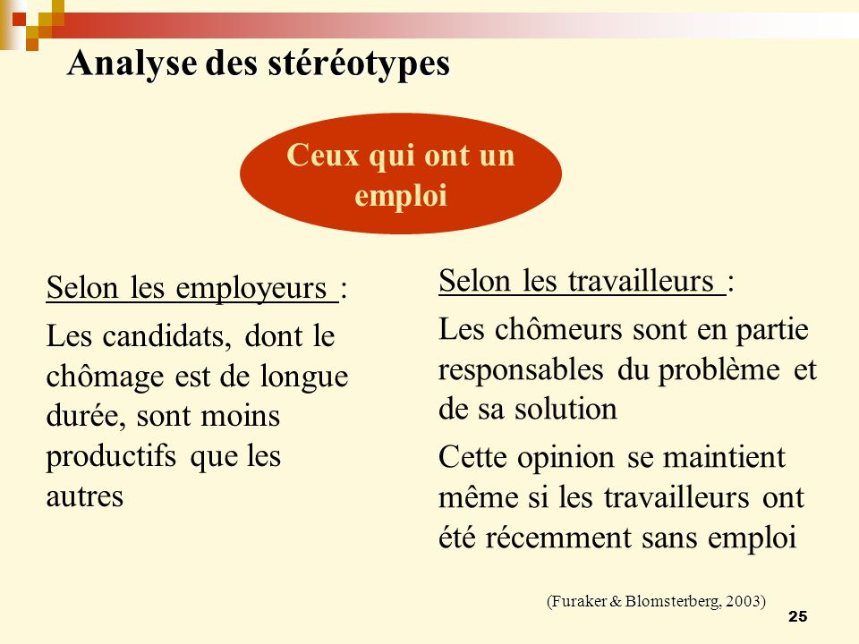Analyse des stéréotypes