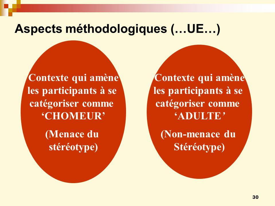Aspects méthodologiques (…UE…)