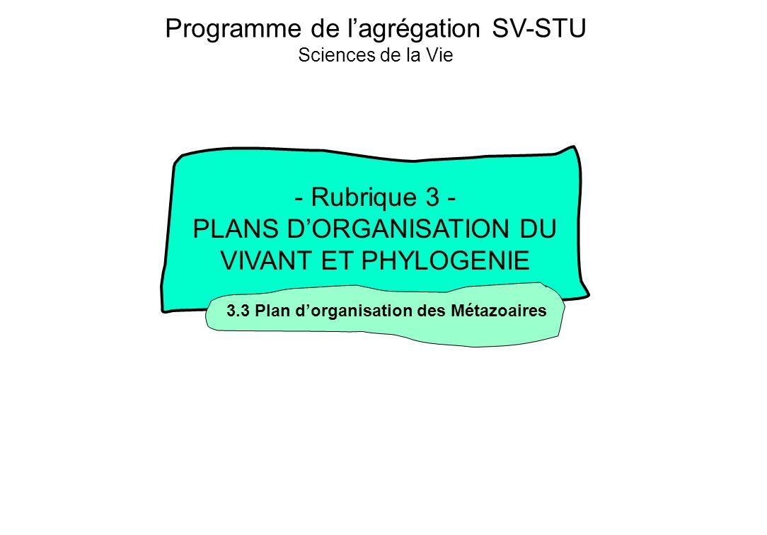 Programme de l'agrégation SV-STU