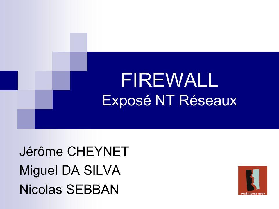 FIREWALL Exposé NT Réseaux