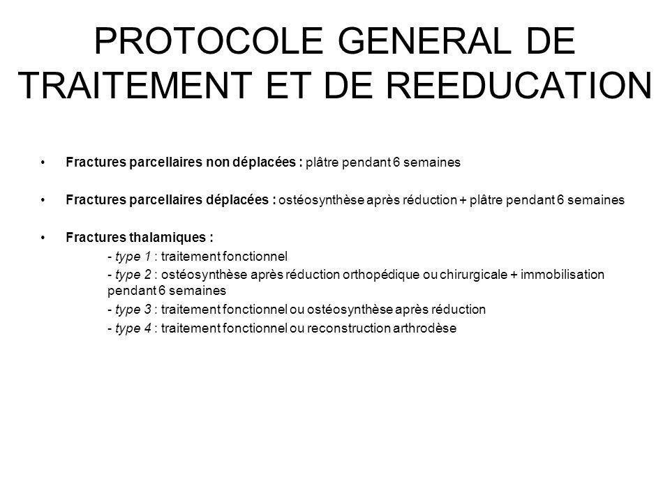 PROTOCOLE GENERAL DE TRAITEMENT ET DE REEDUCATION