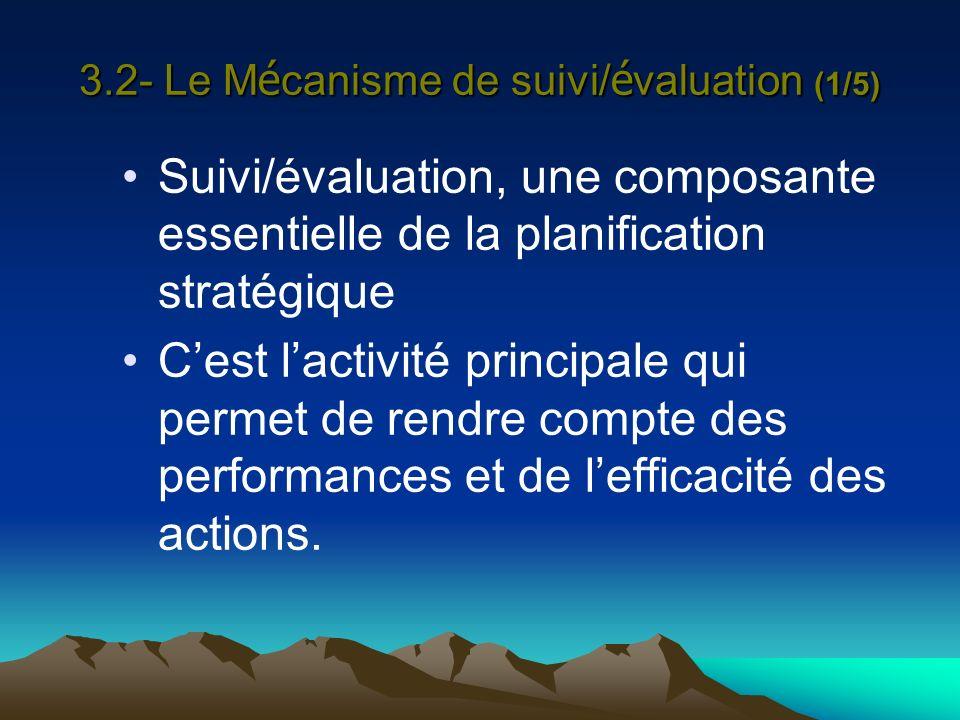 3.2- Le Mécanisme de suivi/évaluation (1/5)