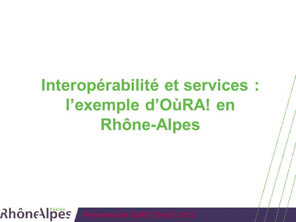 Interopérabilité et services : l'exemple d'OùRA! en Rhône-Alpes