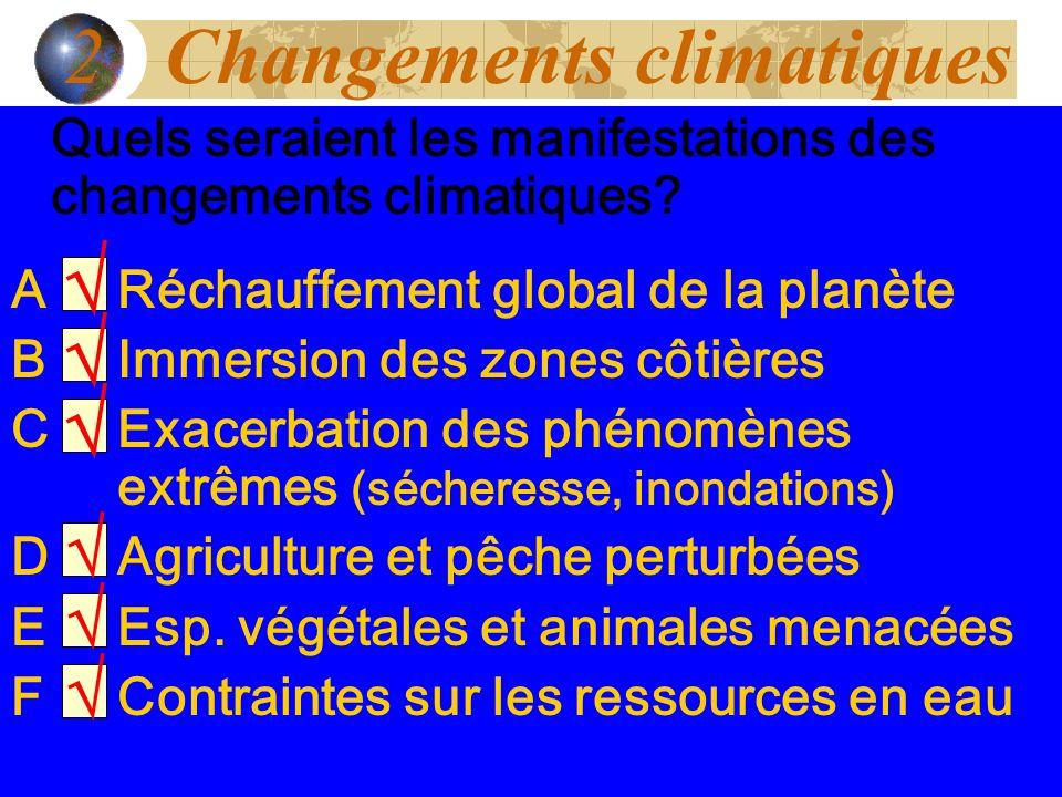 2 Changements climatiques