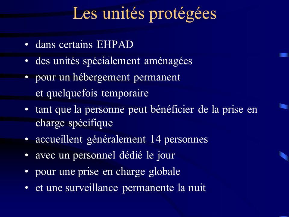 Les unités protégées dans certains EHPAD