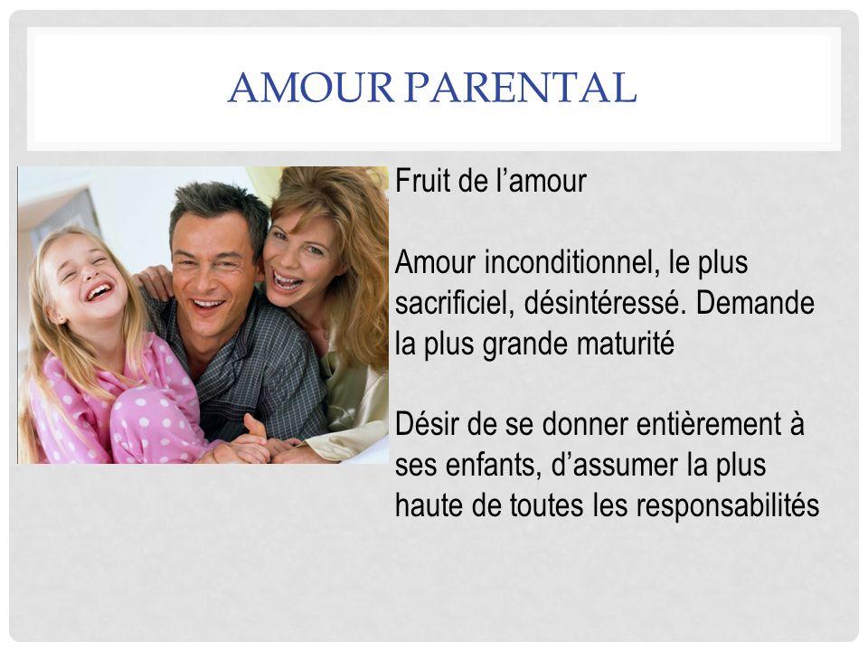 Amour Parental Fruit de l'amour
