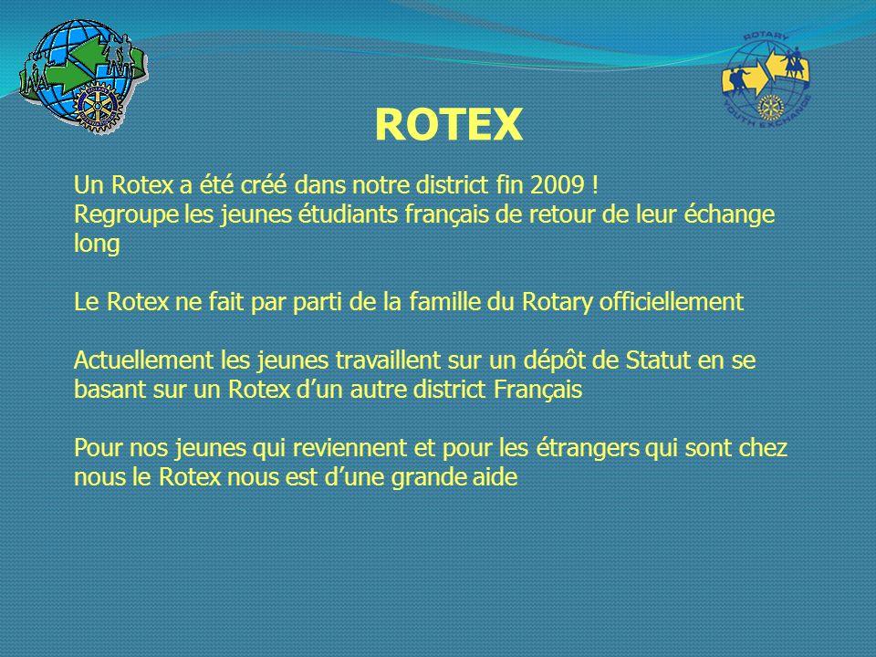ROTEX Un Rotex a été créé dans notre district fin 2009 !