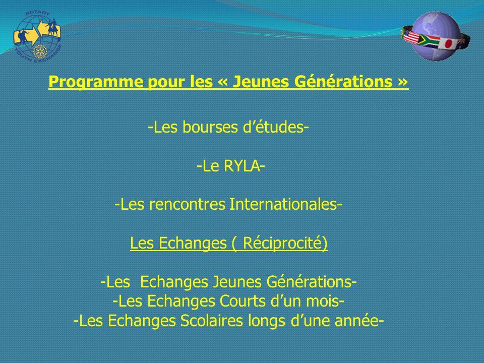 Programme pour les « Jeunes Générations »