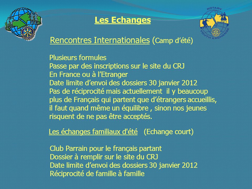 Rencontres Internationales (Camp d'été)