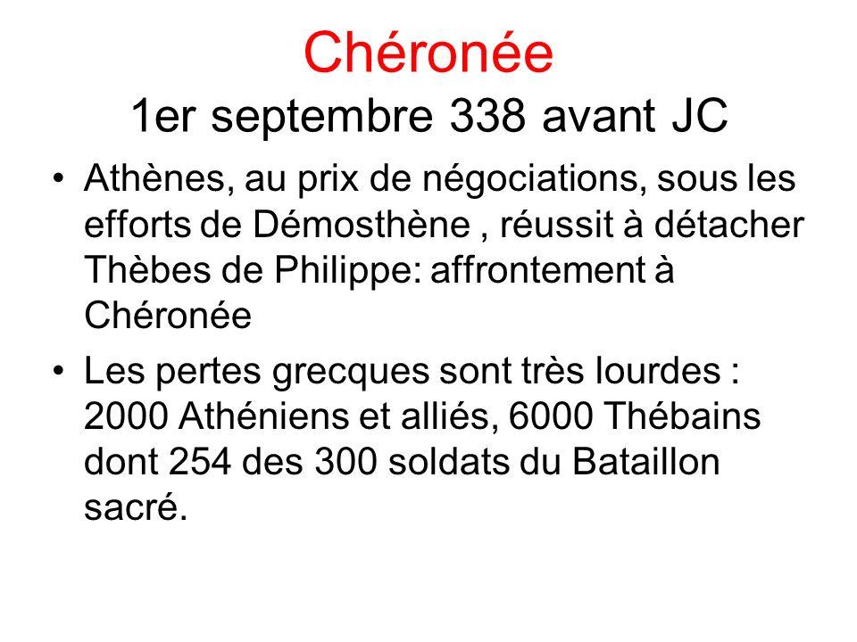 Chéronée 1er septembre 338 avant JC