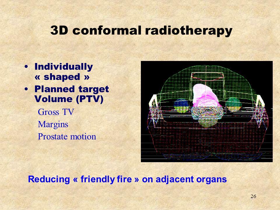 3D conformal radiotherapy