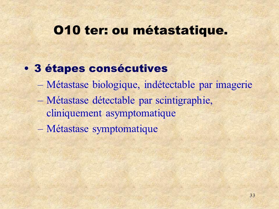 O10 ter: ou métastatique. 3 étapes consécutives