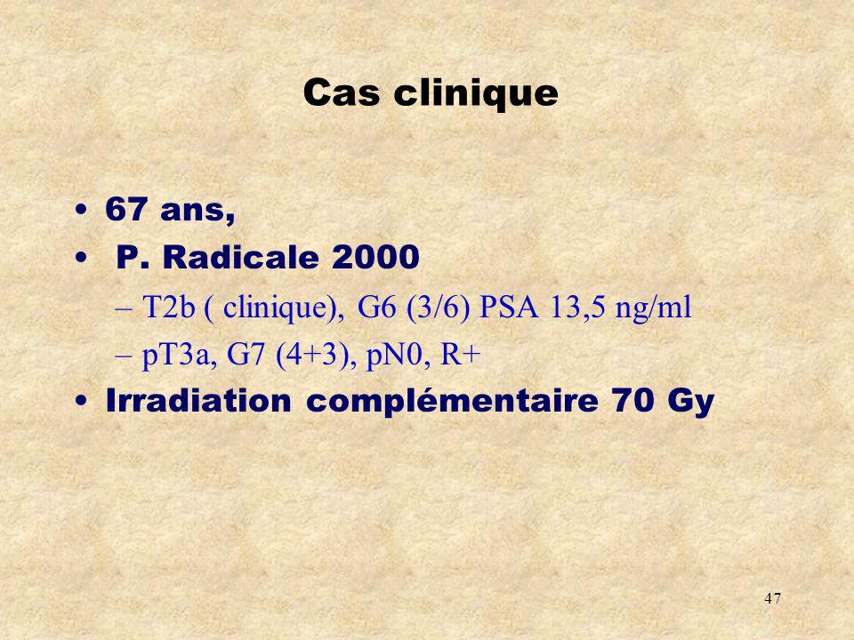 Cas clinique 67 ans, P. Radicale 2000