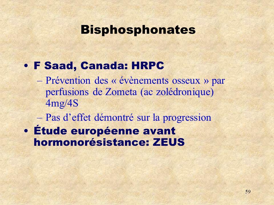 Bisphosphonates F Saad, Canada: HRPC