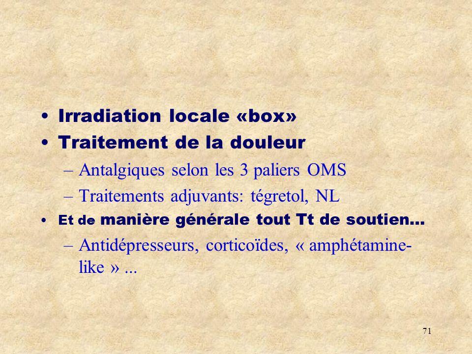 Irradiation locale «box» Traitement de la douleur