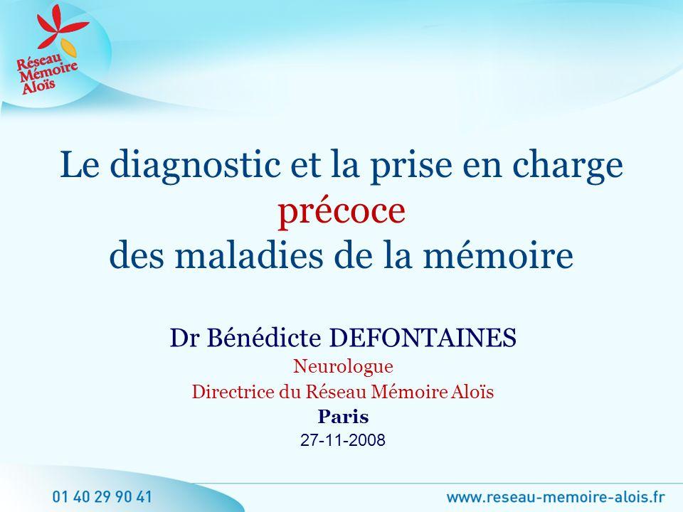 Le diagnostic et la prise en charge précoce des maladies de la mémoire