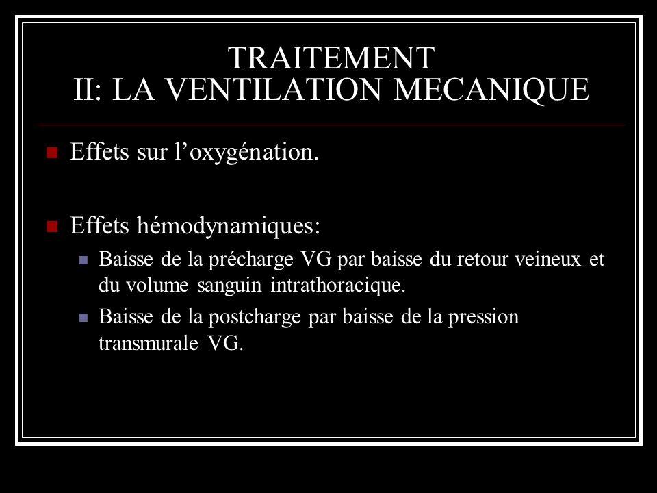 TRAITEMENT II: LA VENTILATION MECANIQUE