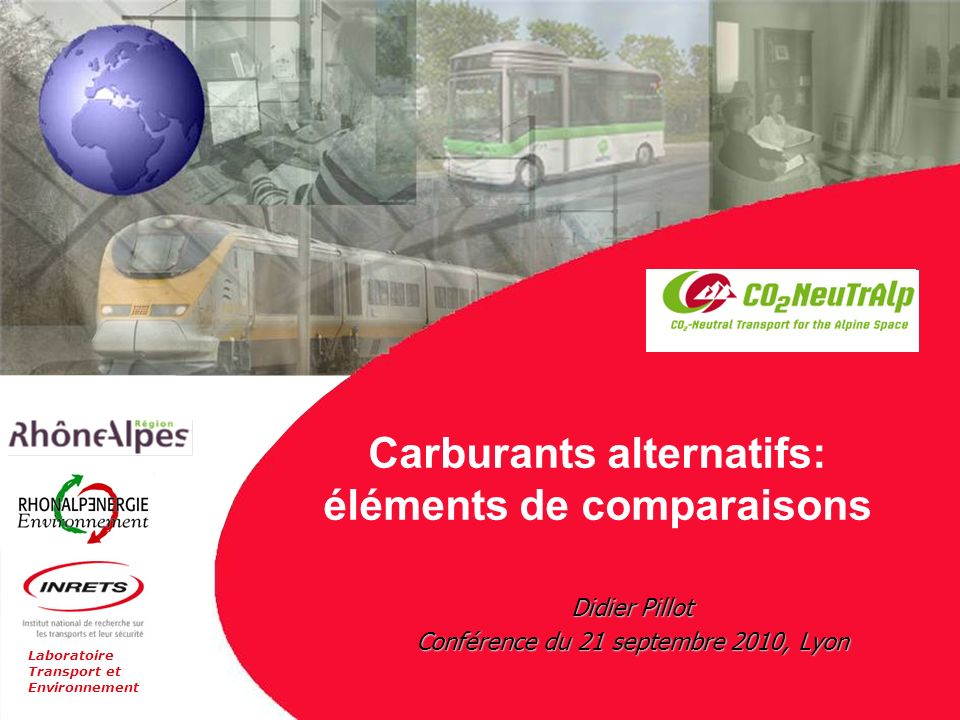 Carburants alternatifs: éléments de comparaisons