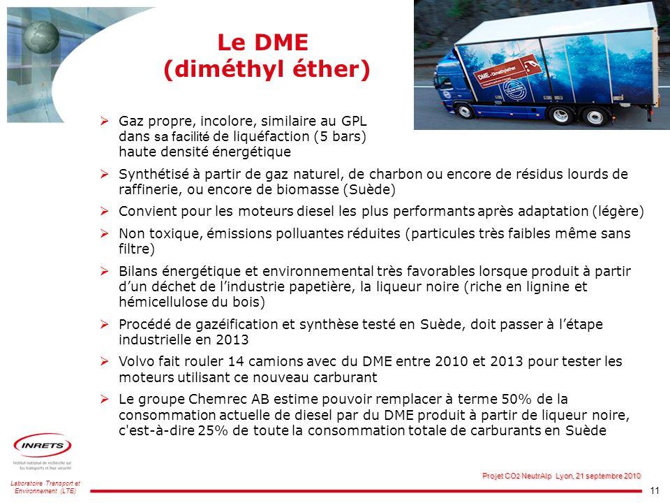 Le DME (diméthyl éther)