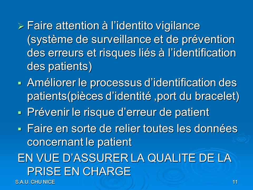 Prévenir le risque d'erreur de patient