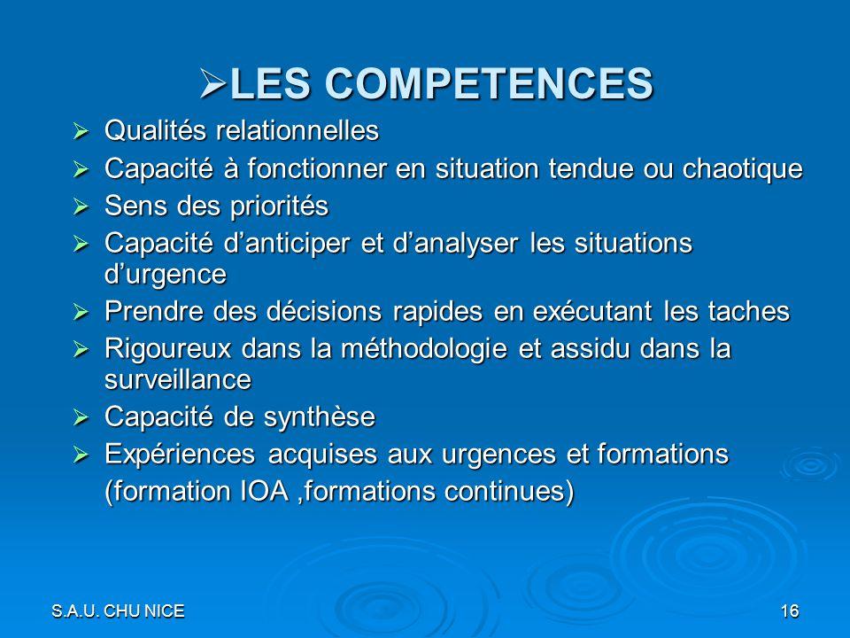 LES COMPETENCES Qualités relationnelles