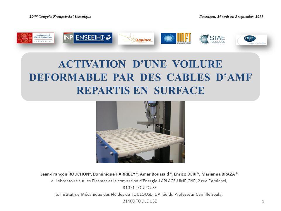 20ème Congrès Français de Mécanique Besançon, 29 août au 2 septembre 2011