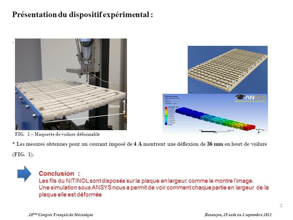 Présentation du dispositif expérimental :. FIG