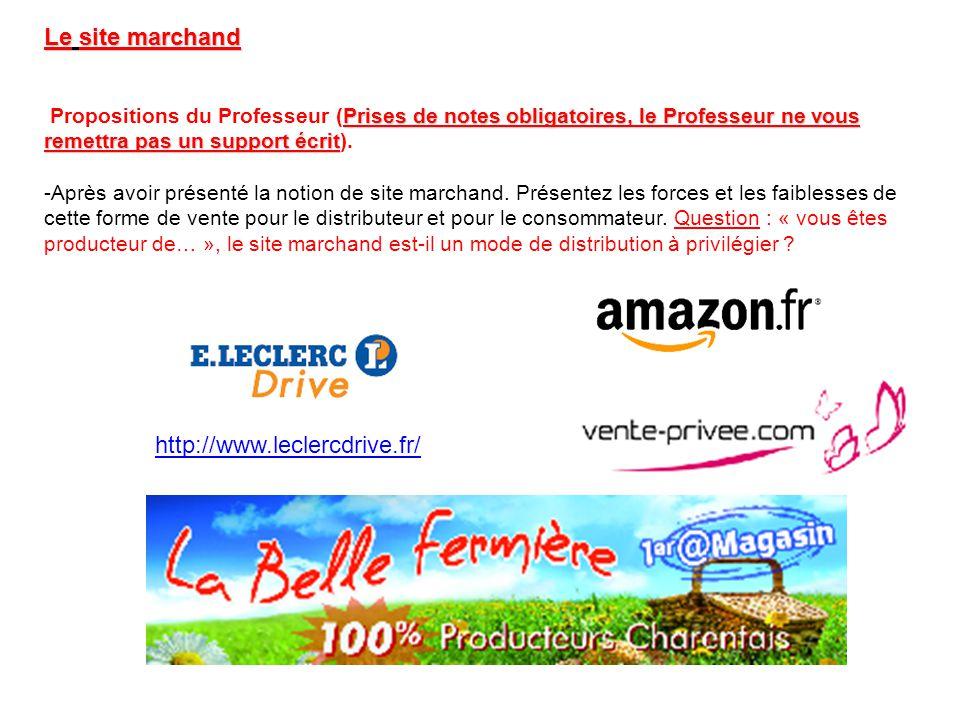 Le site marchand http://www.leclercdrive.fr/