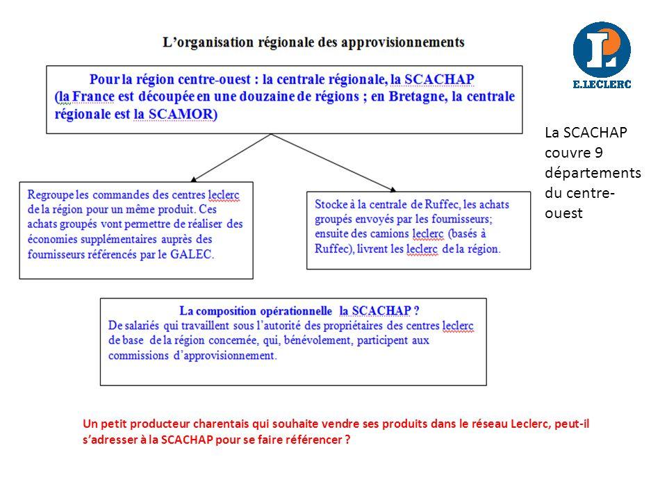La SCACHAP couvre 9 départements du centre-ouest