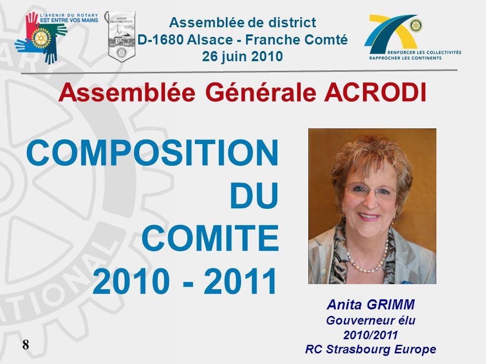 Assemblée Générale ACRODI