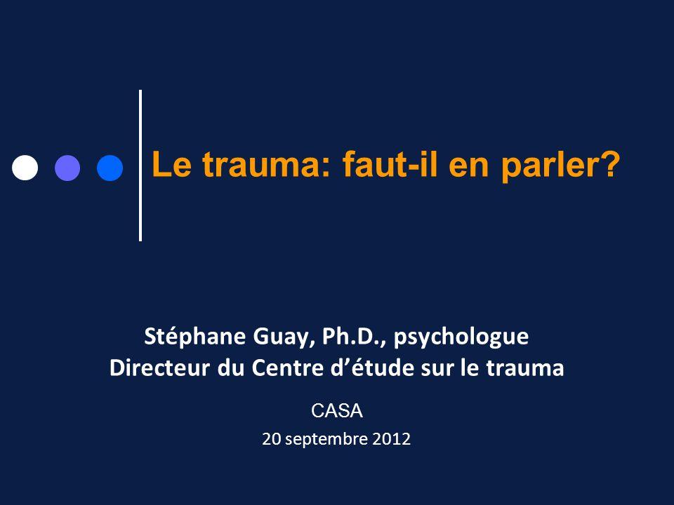Le trauma: faut-il en parler