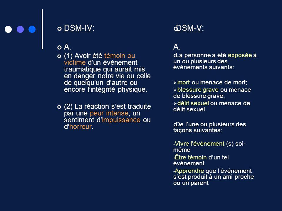 DSM-IV: A.