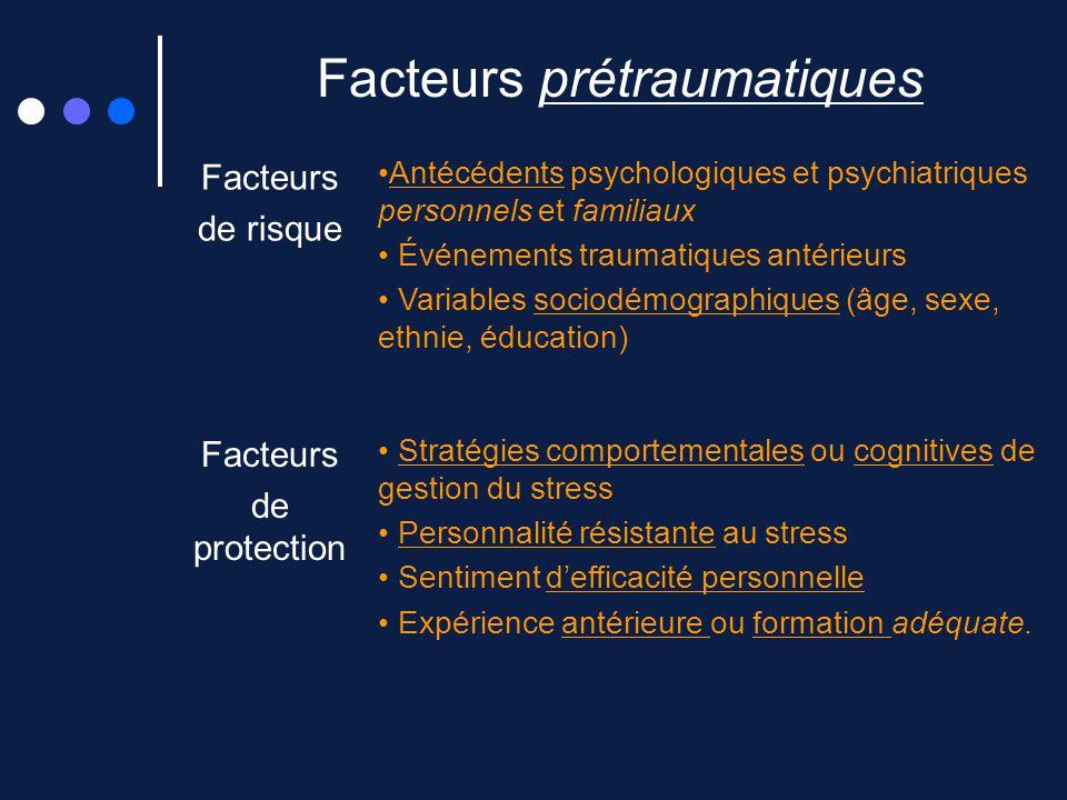 Facteurs prétraumatiques