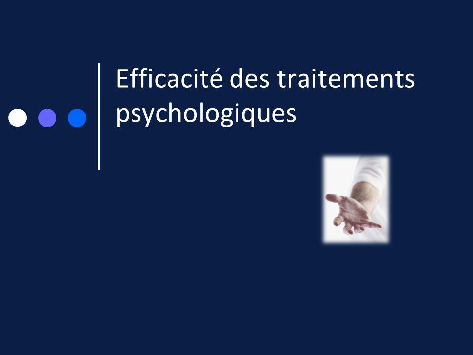 Efficacité des traitements psychologiques