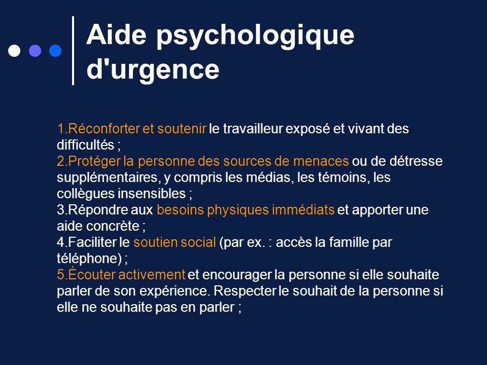 Aide psychologique d urgence