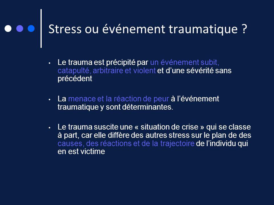 Stress ou événement traumatique